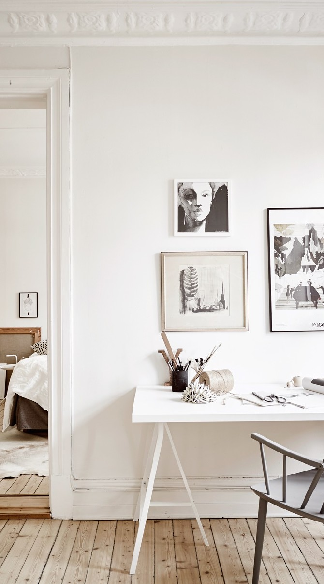Scandinavian Home Inspirations: white, grey and lots of fur