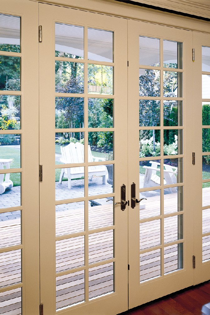 4 innovative designs for patio and french doors for Exterior french patio doors