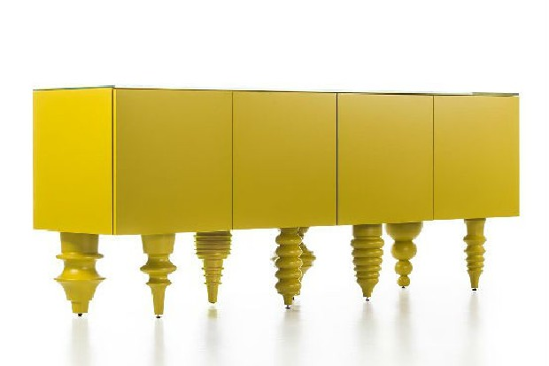 Colorful design by some of the greatest designers multileg cabinet bd barcelona