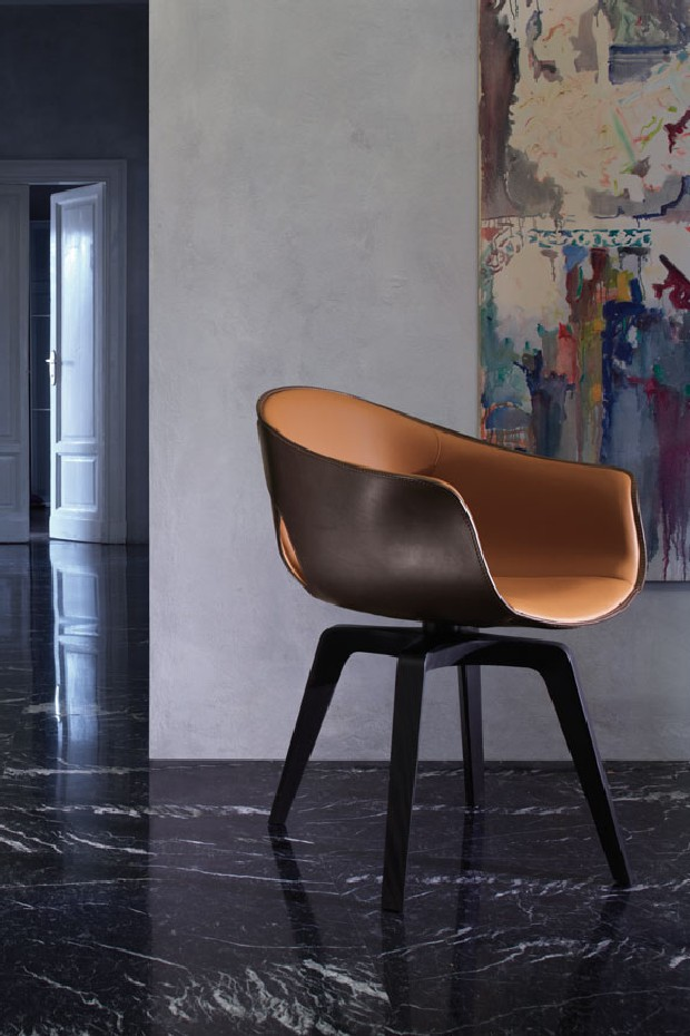 Handcrafted heritage Home Designs luxury furniture and light design Ginger Chair by Roberto Lazzeroni for Poltrona Frau