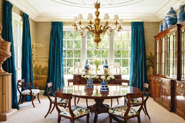 Home Designs luxury furniture and light design Theodore Alexander's Althorp Patent Jupe Table m