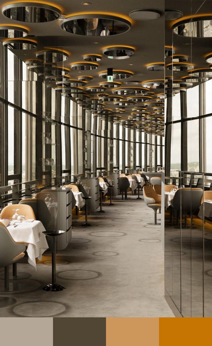 10 Restaurant interior design color schemes5