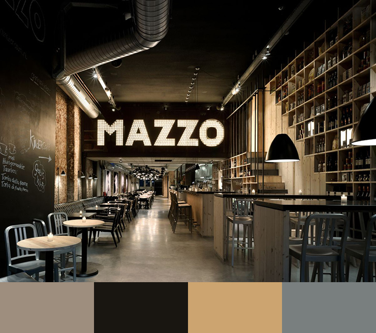 10 Restaurant interior design color schemes7
