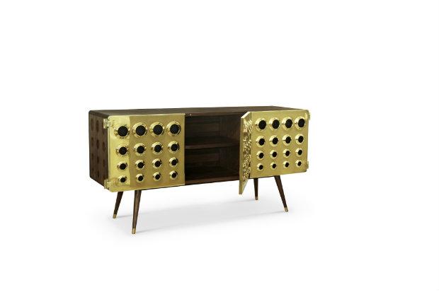Living Room Design Trends brass details 4