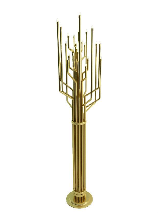 Living Room Design Trends brass details 5
