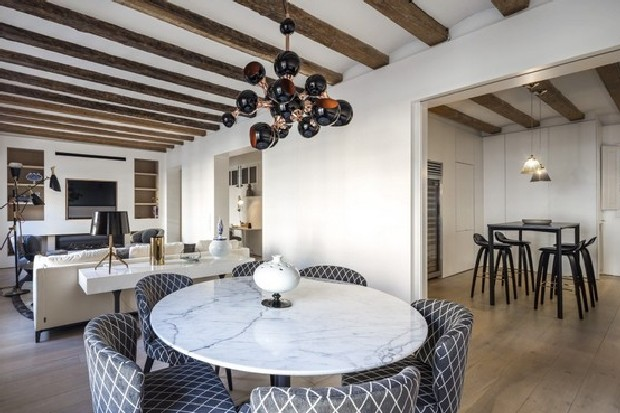 Inspirational Residential Project by Creative Director of Minotti atomic suspension lamp by delightfull