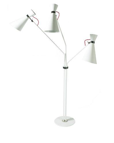 INSPIRING WHITE MODERN FLOOR LAMP DESIGNS