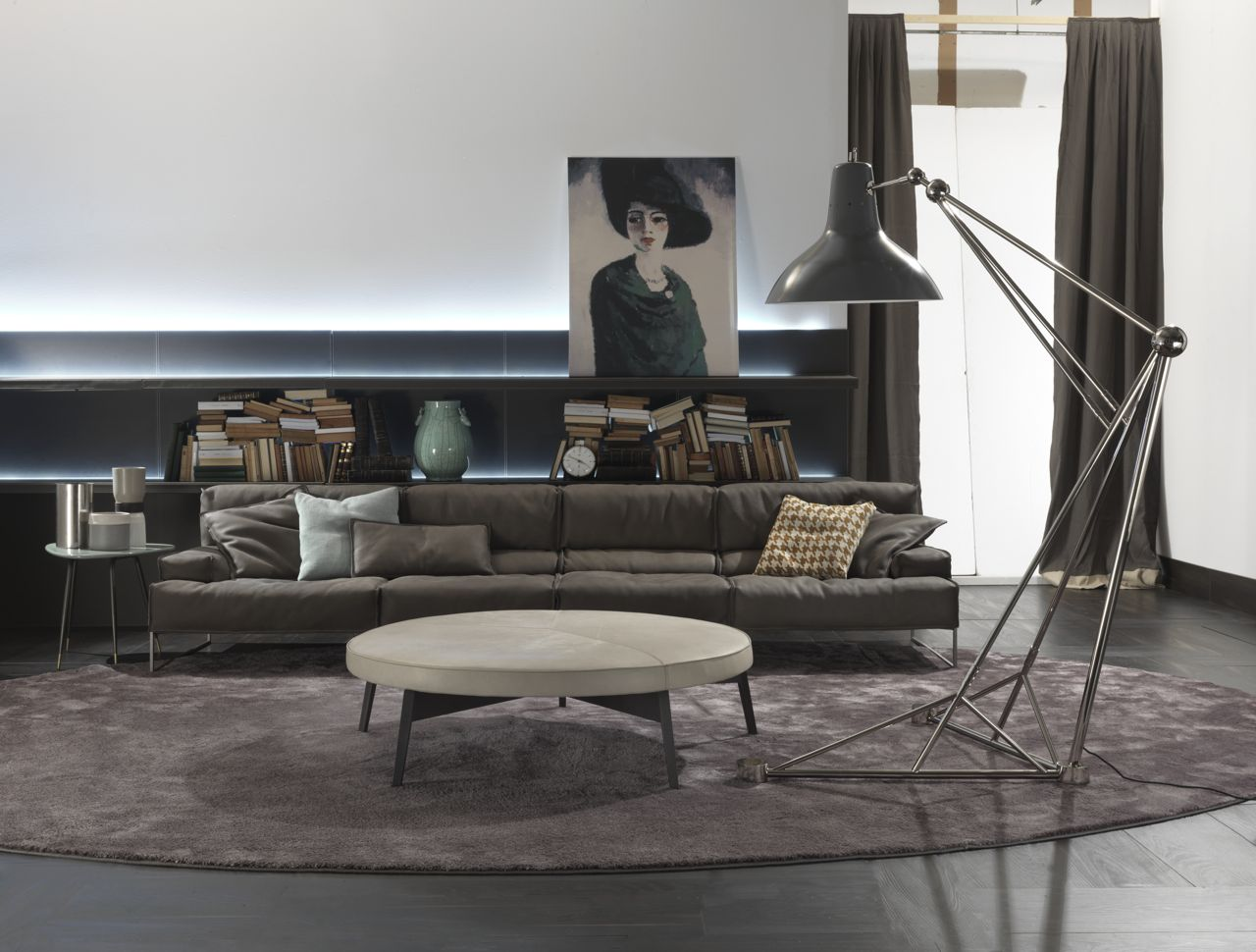 Use Floor Lamps In Your Industrial Style Living Room