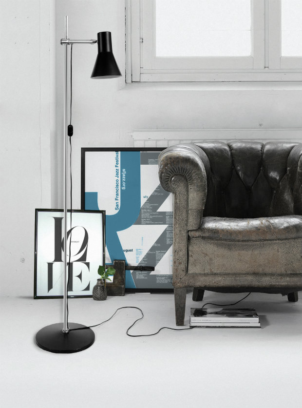 Use floor lamps in your industrial style living room (4)