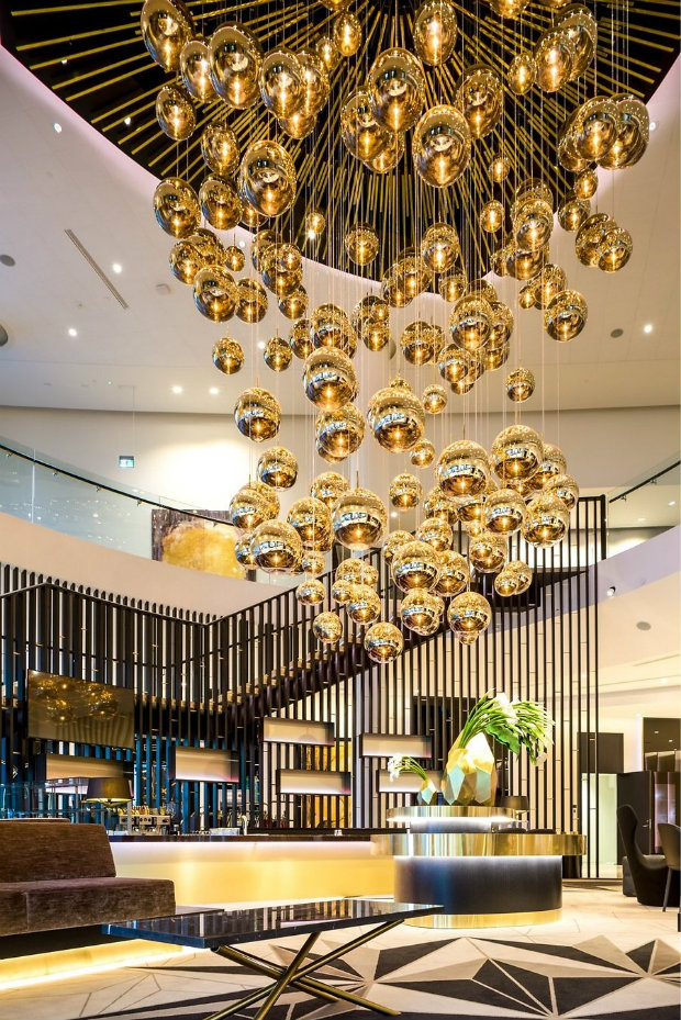 Inspiring Hotel Designs Hilton Tallinn Hotel tom dixon lighting design