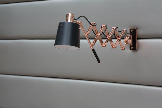 Inspiring projects Berthelot's Modern Restaurant Design in Bucharest wall lamp from DelightFULL