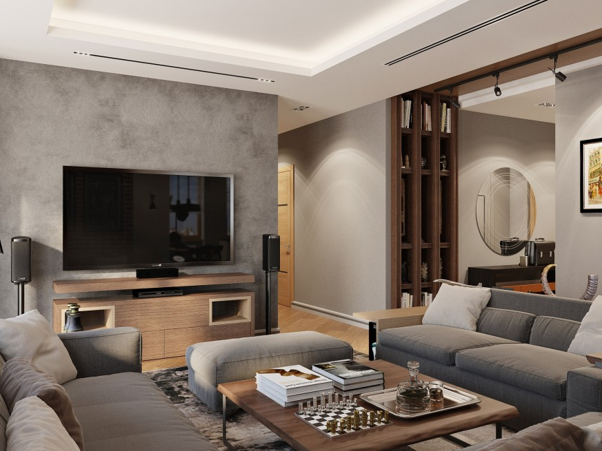 Modern Apartment in the Residential Complex Lumiere in St. Petersburg