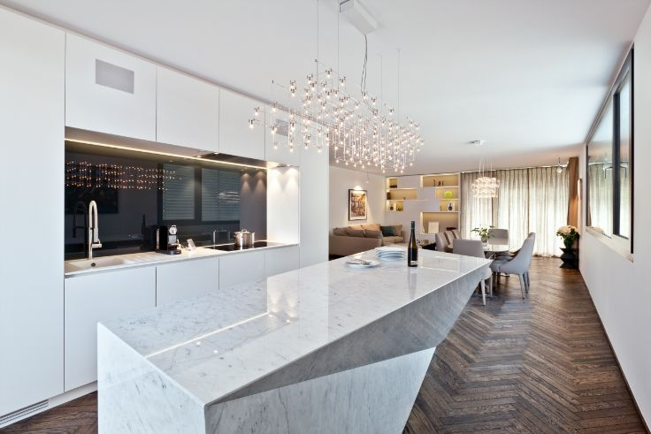 GORGEOUS MARBLE KITCHEN DESIGNS THAT YOU WILL LOVE