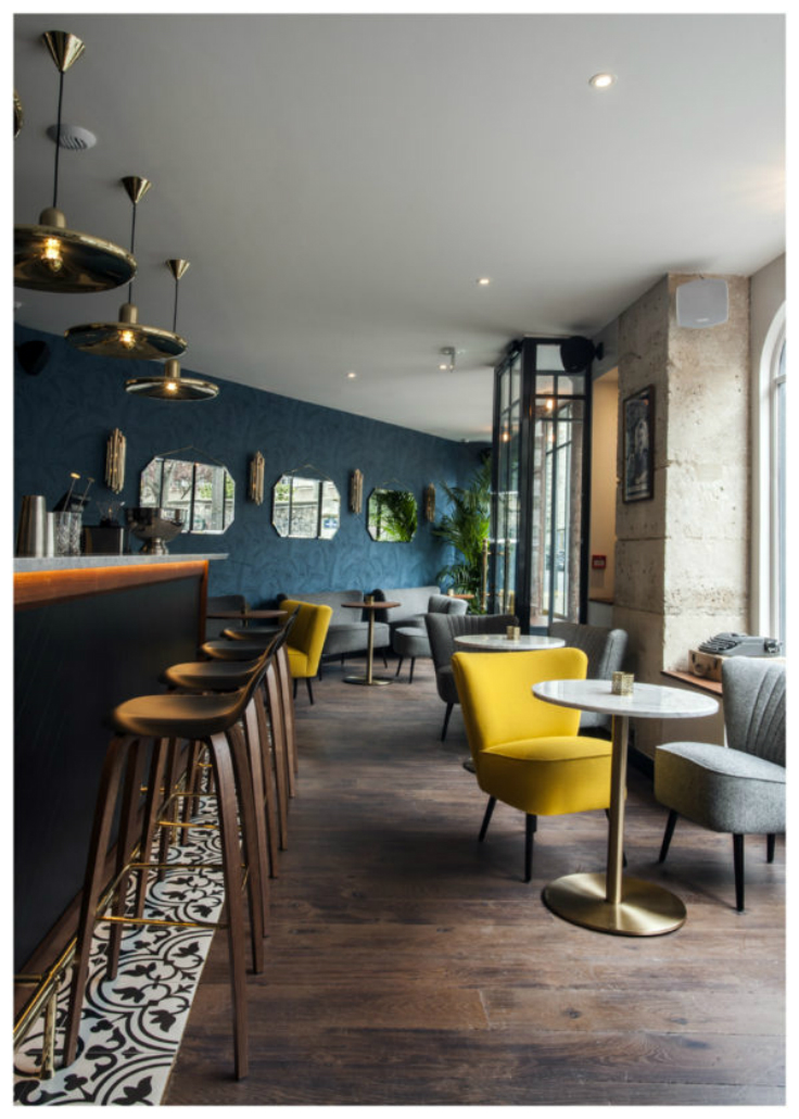 Inspiring hotel design andr latin paris for Hotel interior design companies