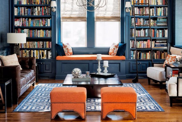 Dream Of Small Brown Room With A Bench And Books