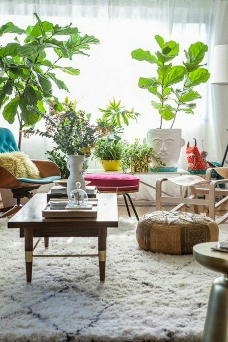INSPIRING LIVING ROOM IDEAS WITH PLANTS Living Room Ideas 10