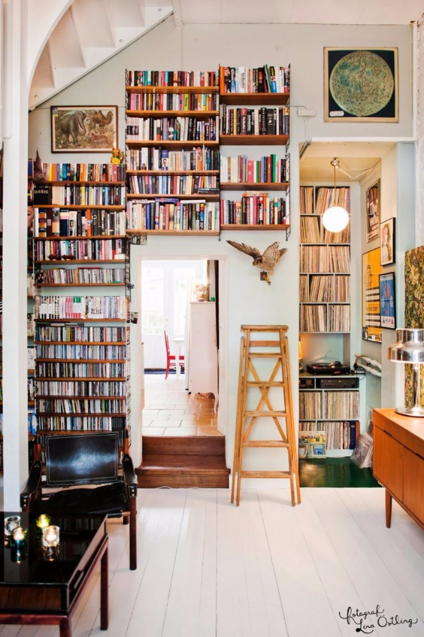 Home Library Decorating Ideas: Vintage Library Design Ideas