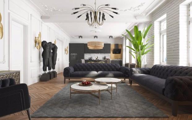 black apartment
