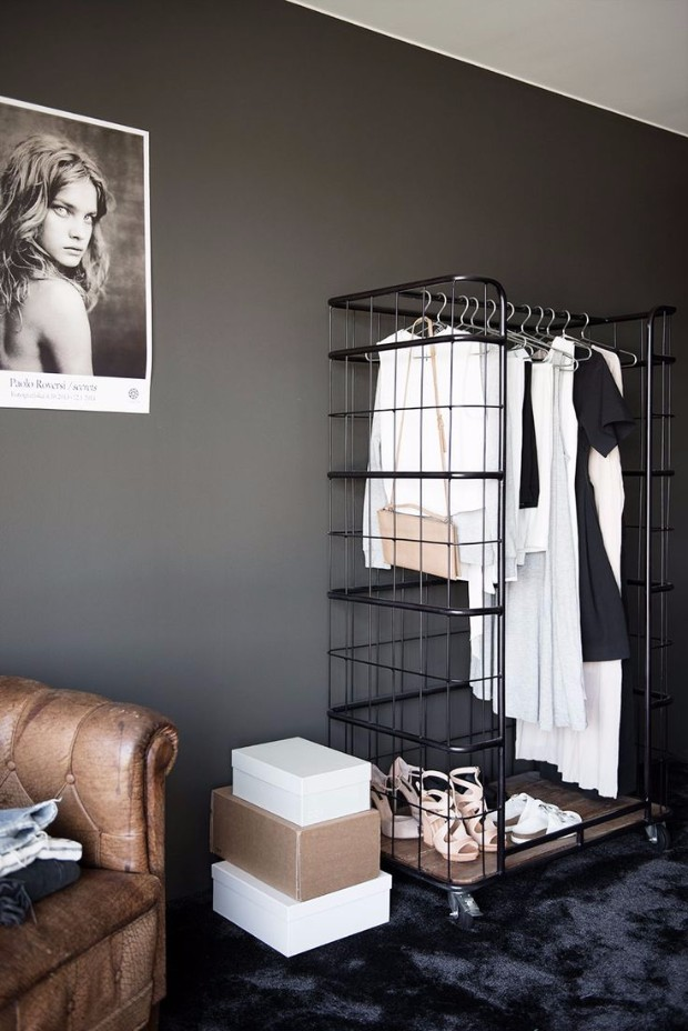 industrial style closet