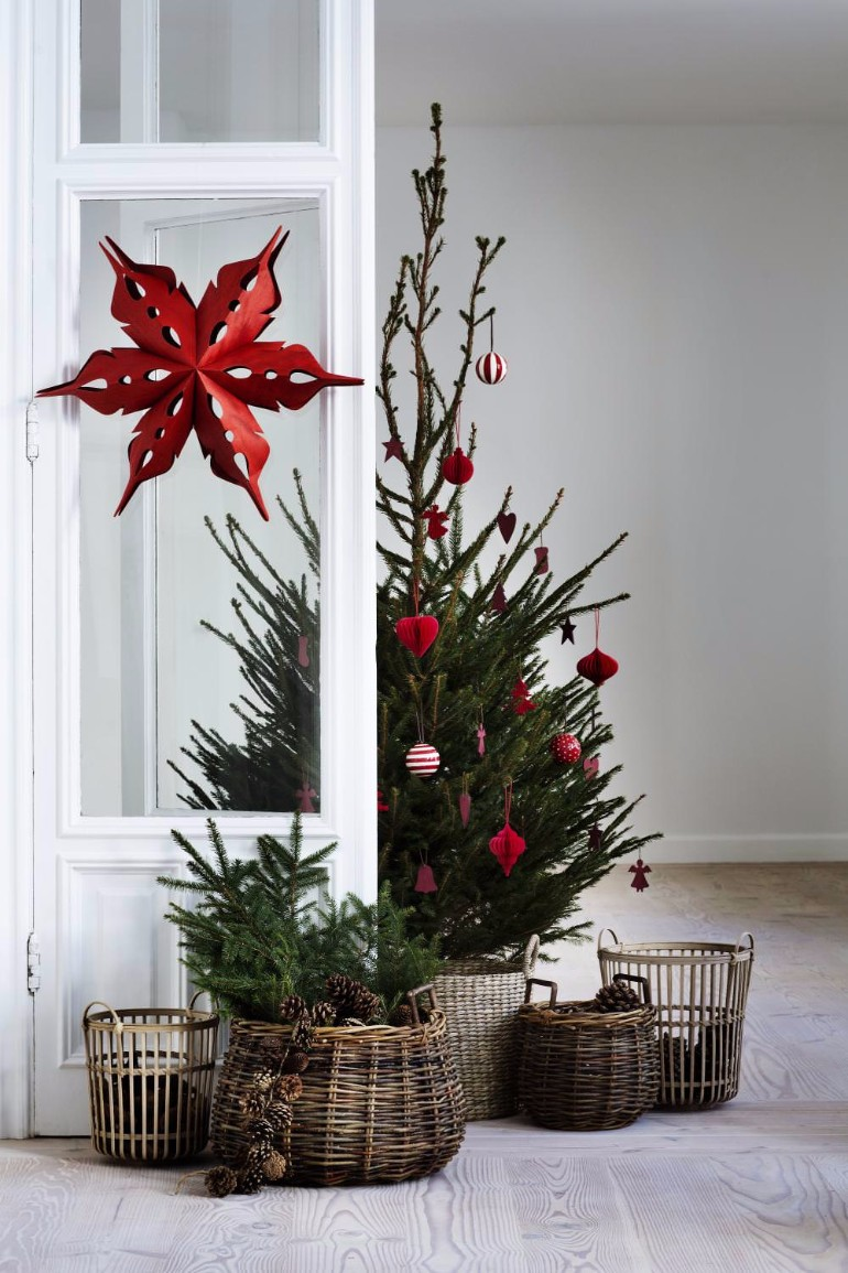 Scandinavian christmas trees for your holiday for Christmas tree mural