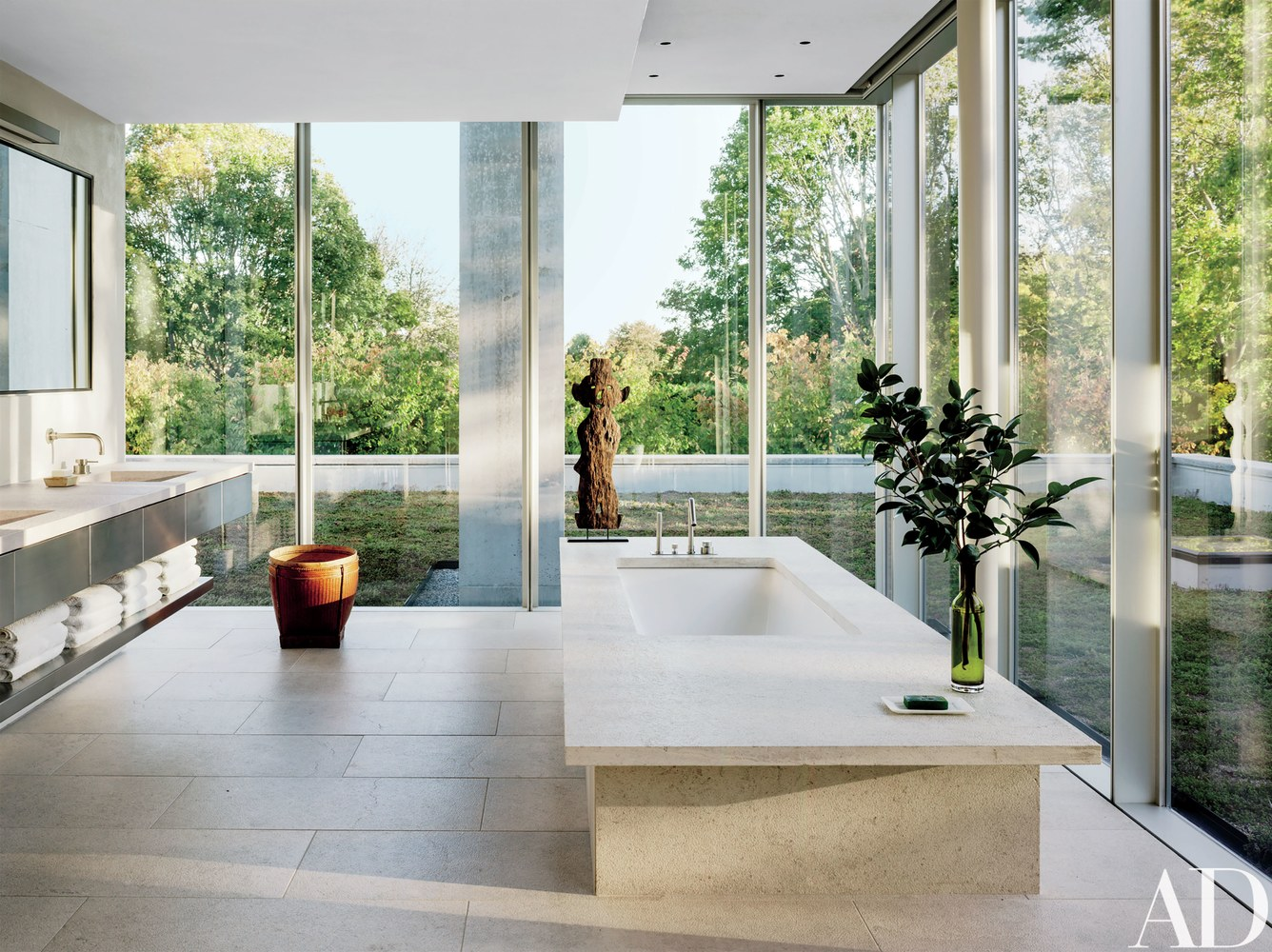get inspired by this mid century modern hamptons home