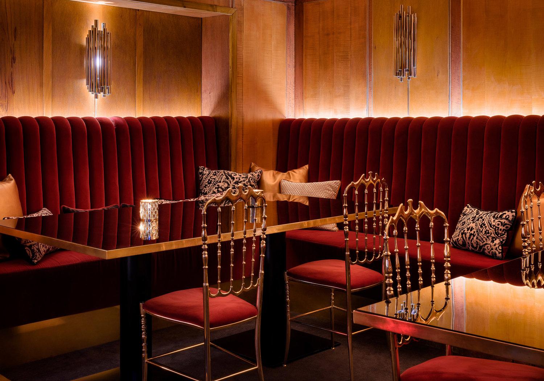 mid-century modern restaurant in oslo rocks the best lighting designs