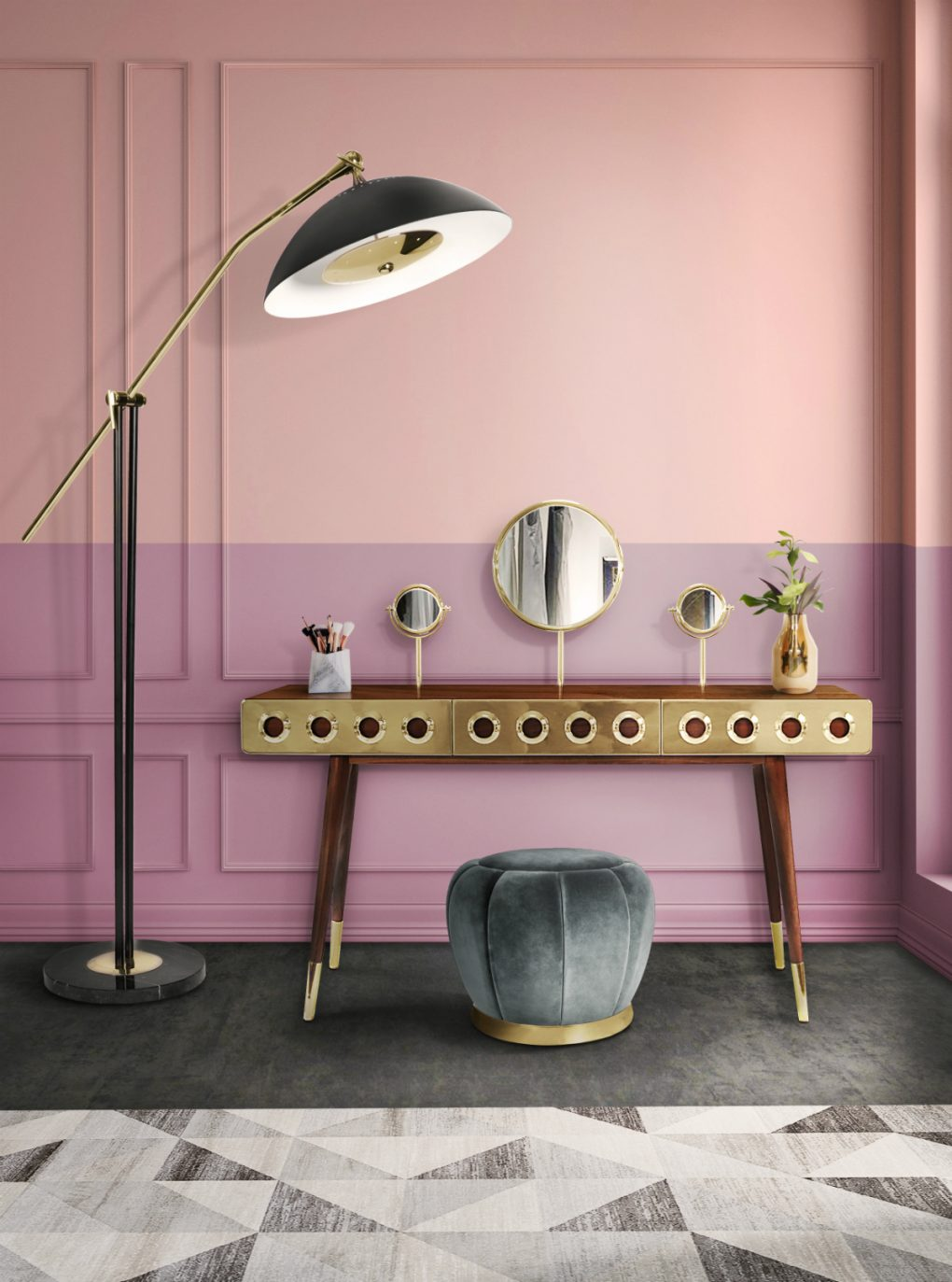 Color Week Inspirations: Pink Monday Color Week Inspiration: Pink Monday Mood Board The Ultimate Pink Shade for a Modern Home Decor 15