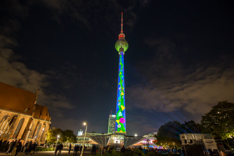 Berlin Lights Up the Sky