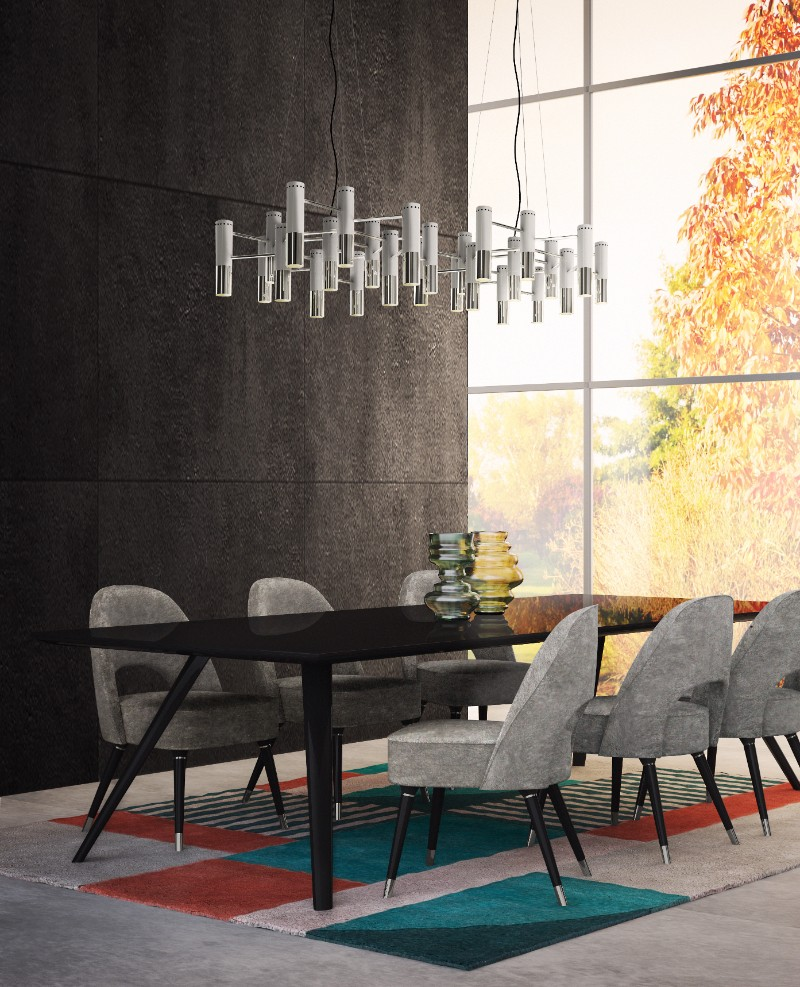 32 Stylish Dining Room Ideas To Impress Your Dinner Guests: Mid-Century Lamps To Brighten Your Thanksgiving Dinner