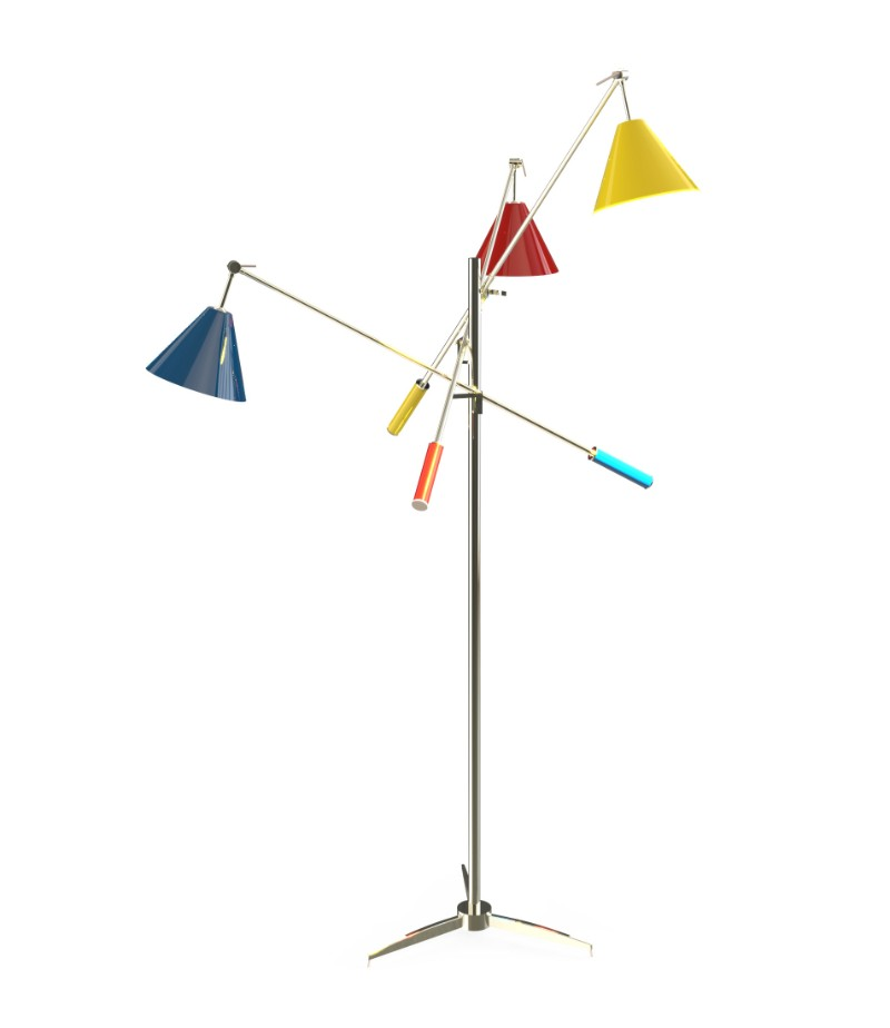 Trending Product A Three-Arm Floor Lamp with A Modern Twist 5