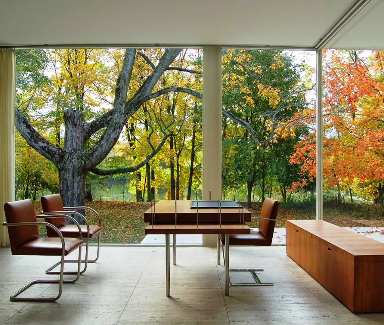 unique design the renowned farnsworth house by mies van. Black Bedroom Furniture Sets. Home Design Ideas