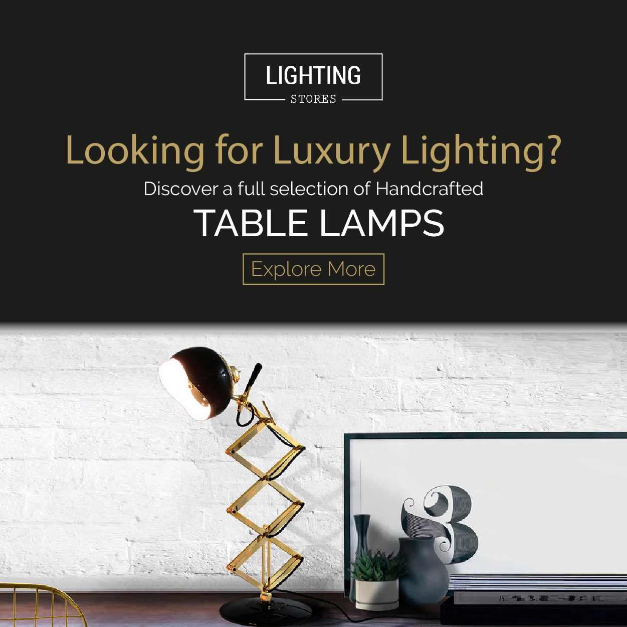 Lighting Stores Table Lamps bathroom furniture Newsletter BANNER 20SD 03