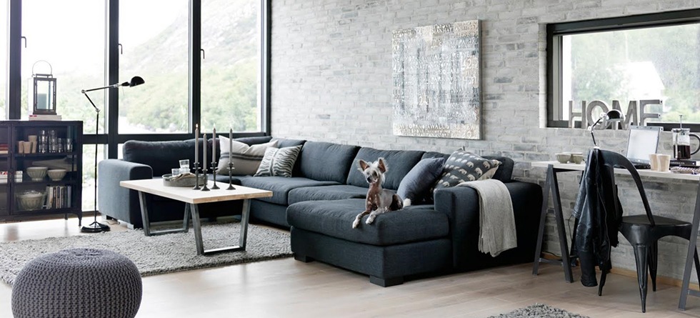 Industrial Living Rooms Concrete Walls And Vintage Lighting