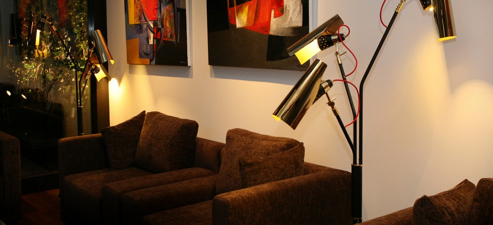 modern black and gold floor lamps. Black Bedroom Furniture Sets. Home Design Ideas