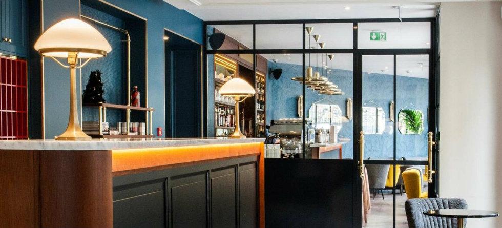 hotel andr latin in paris belle poque inspired hotel design. Black Bedroom Furniture Sets. Home Design Ideas