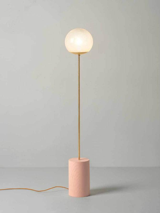 10 inspiring golden modern floor lamps for Modern tube floor lamp