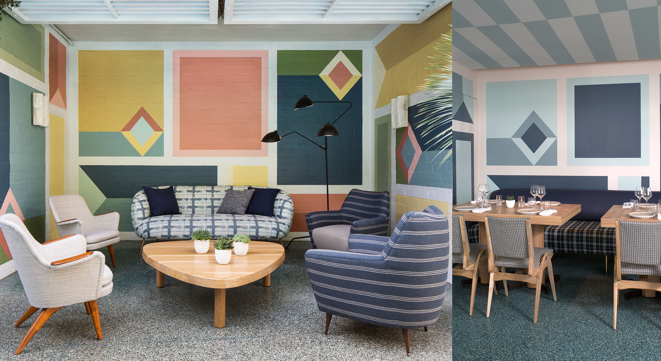 mid century restaurant design by by the celebrated kelly wearstler kelly wearstler mid century