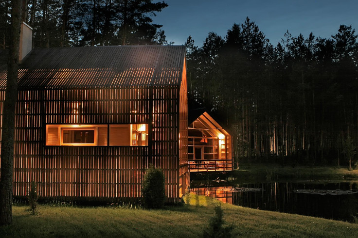 Unique Places In The World Wooden House Surrounded By Nature