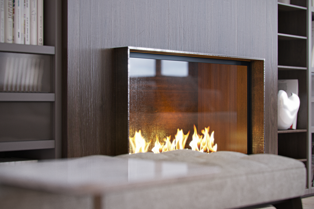 Superb italian apartment brimming with contemporary for Amazing fireplace wall designs