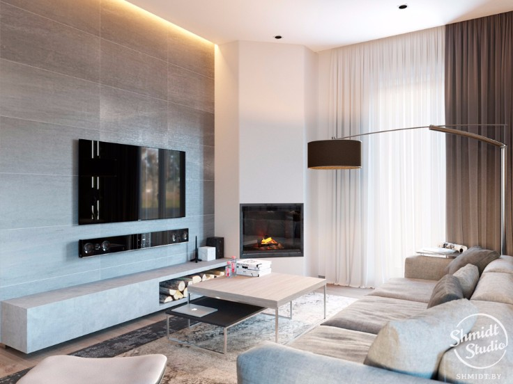 Open Plan Living Room Ideas To Inspire You: Room Of The Week: Modern Open Plan Living Room In Minsk