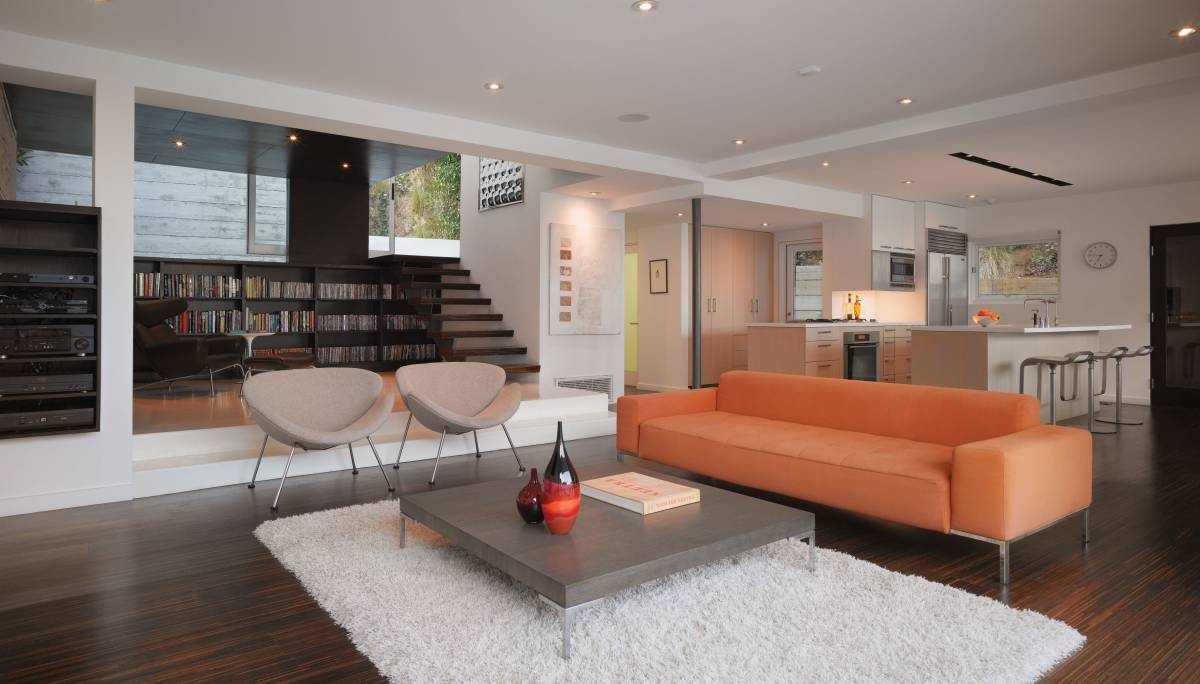 Room of the Week- Contemporary Living Room in Hollywood Hills