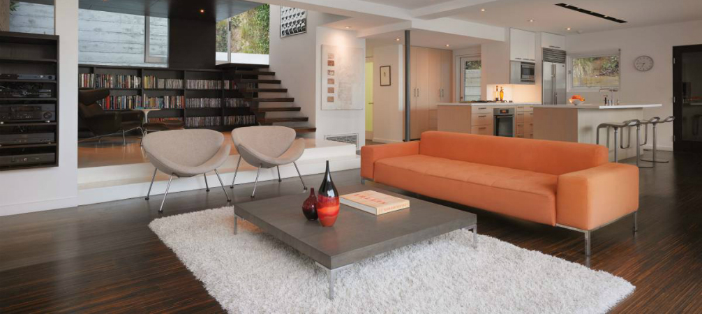 Room of the week minimalist living room in hollywood hills for Minimalist living blog