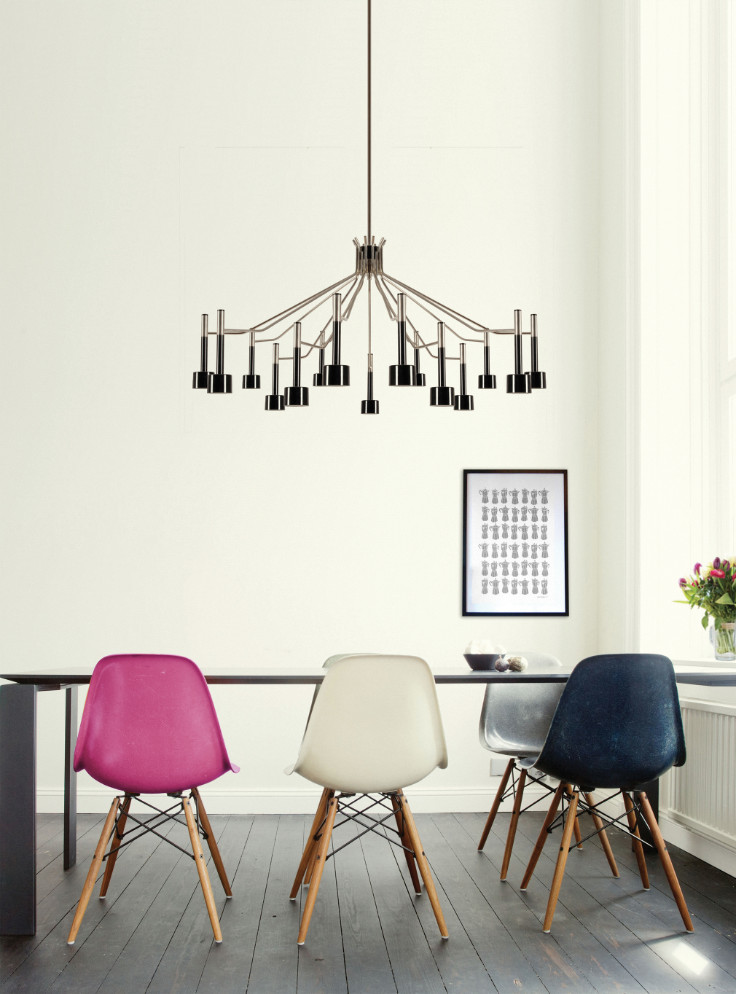 the best decor for your dining room is a ceiling light away lighting inspiration in design. Black Bedroom Furniture Sets. Home Design Ideas