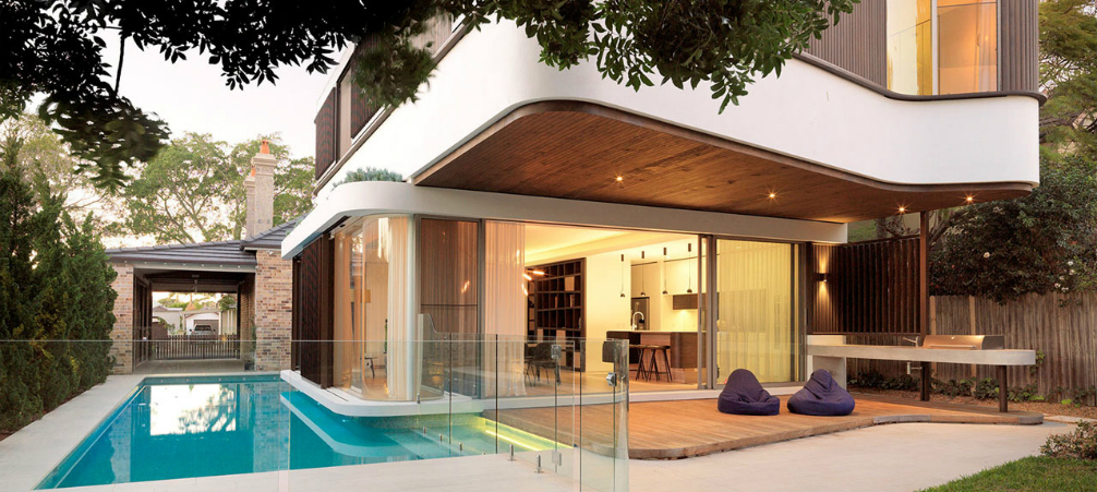 Architecture A Modern House Design with an Impressive Swimming Pool feat - 46+ Modern Small House Design With Pool  PNG