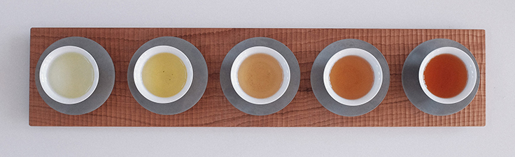 The London design studio, Native & Co, has used differentkinds of clays to design a collection of tableware that matches perfectly to specific oolong teas.