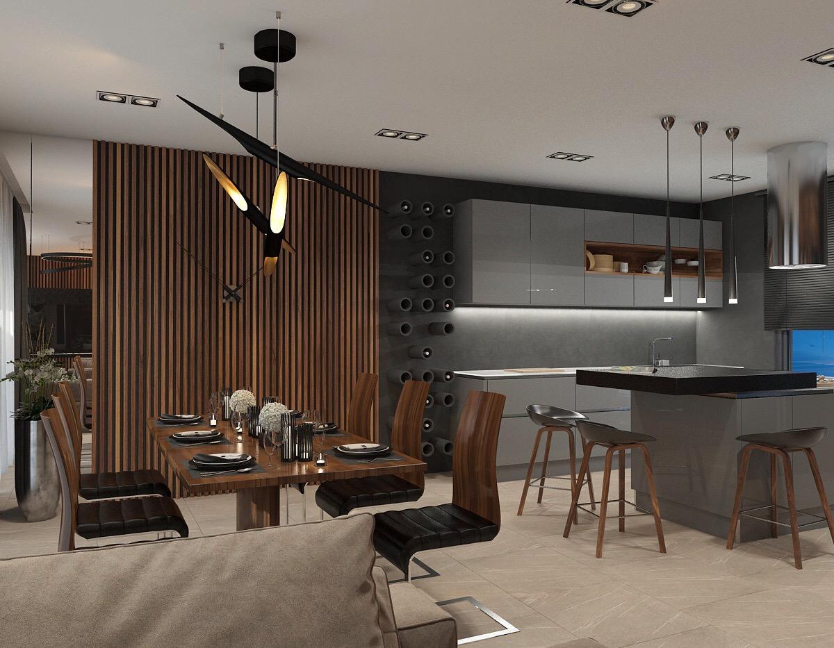 DelightFULL's Mid-Century Lamps Shine in Open Plan Kitchen in Greece 6