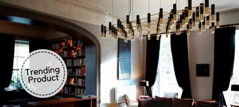 How to Start Your Home Renovation with a Mid-Century Chandelier FEAT