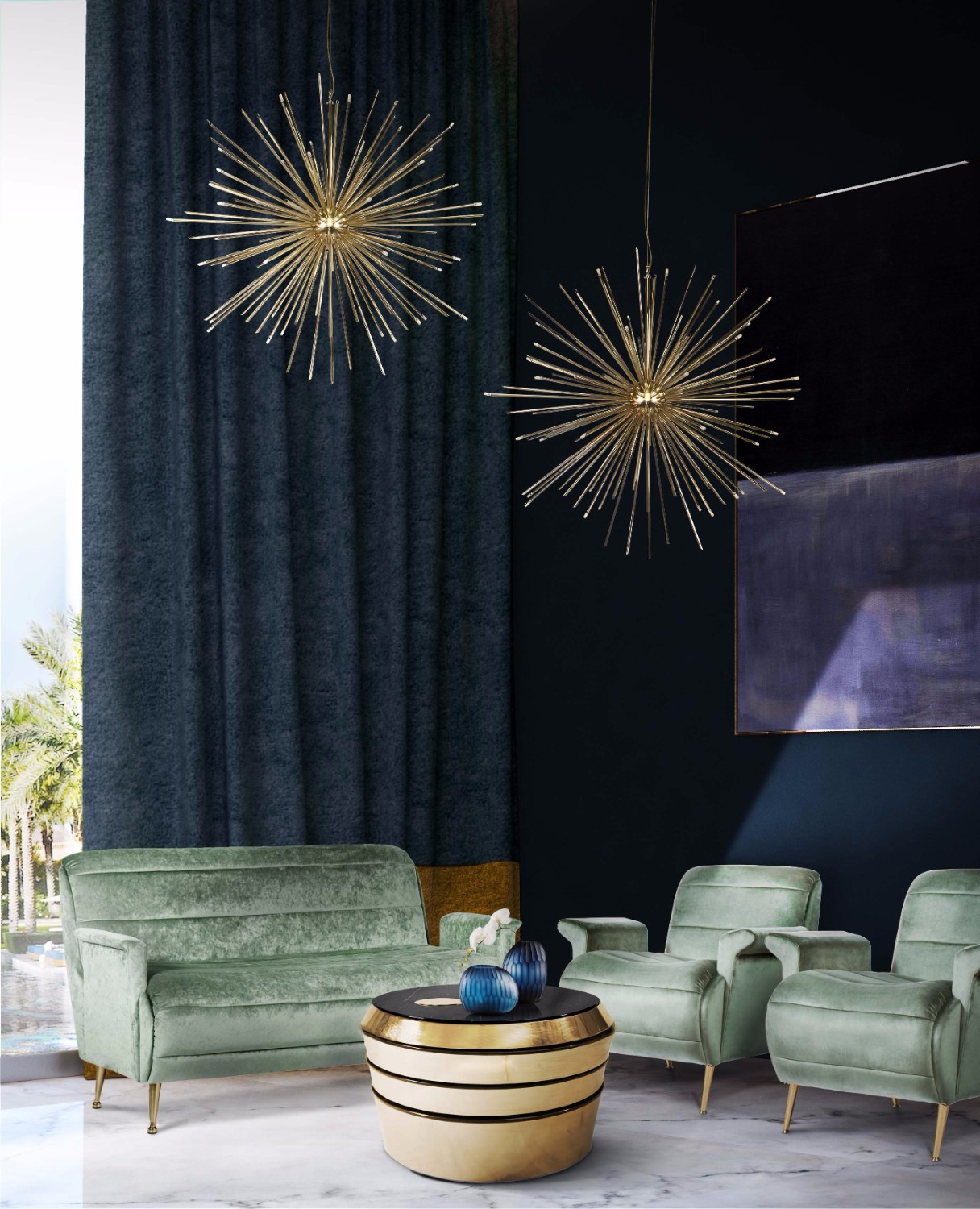 How A Mid-Century Chandelier Can Elevate Your Living Room Decor 2