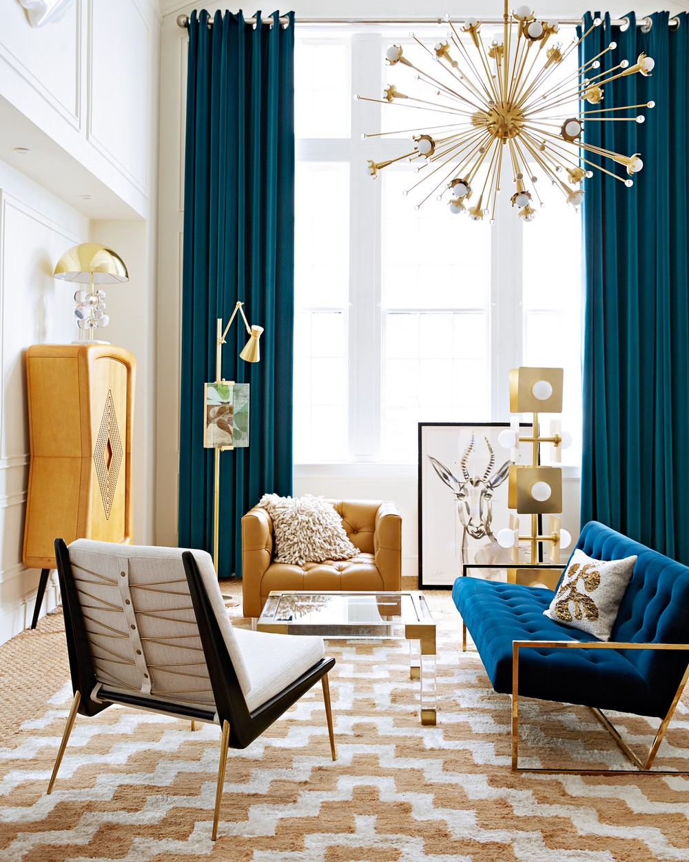 How A Mid-Century Chandelier Can Elevate Your Living Room Decor 8