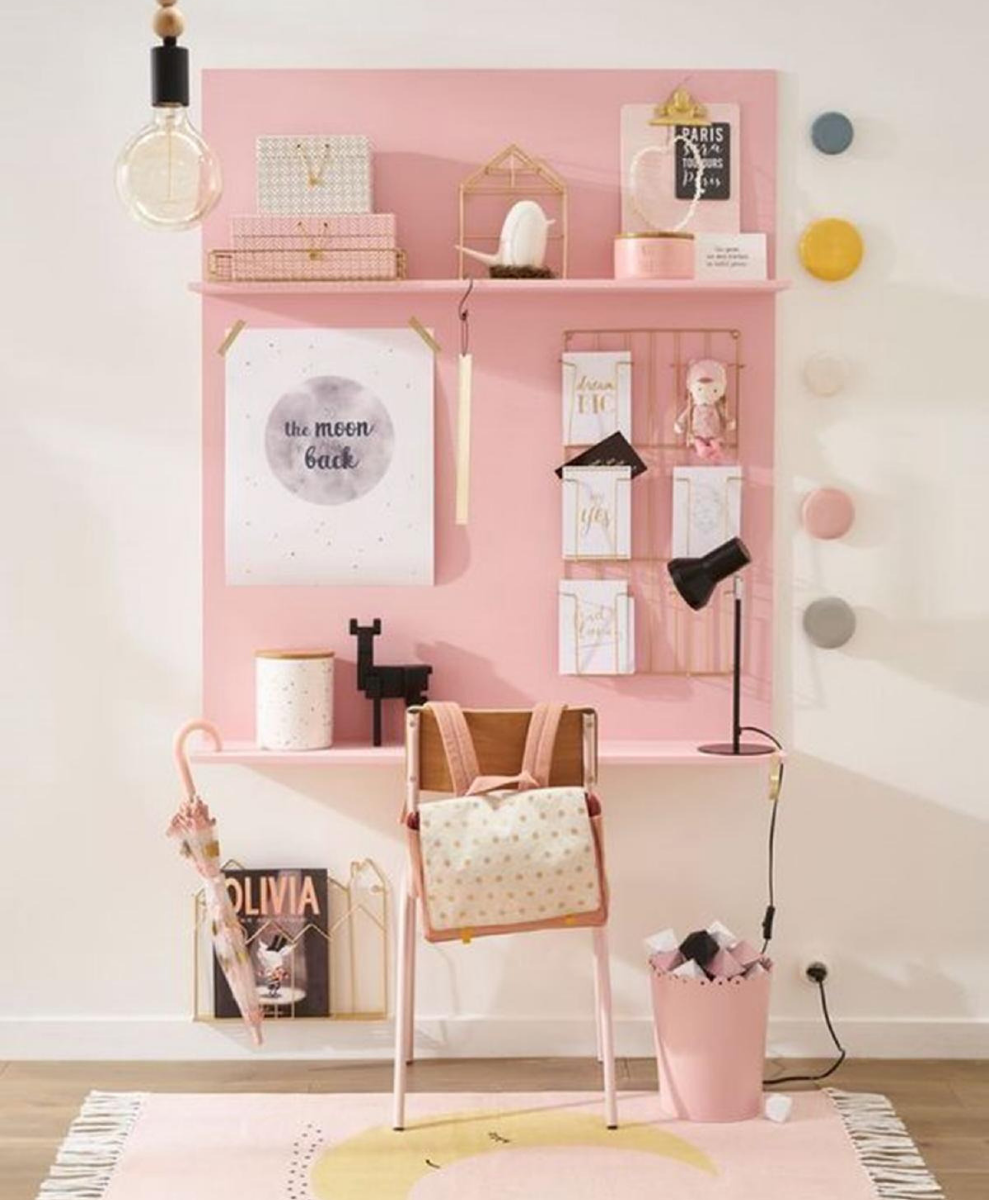 What's Hot On Pinterest_ Pastel Pink Home Offices Are IN